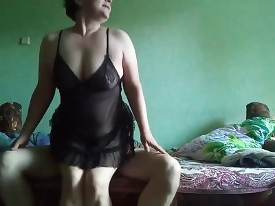 Cougar fucks like there is no tomorrow and swallows cum