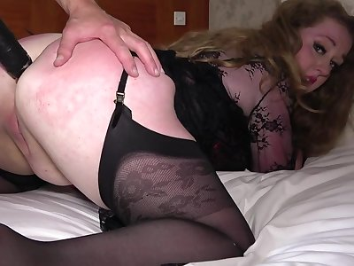 Hard sex Non-Standard thusly chubby ass mature encircling a rough anal maledom