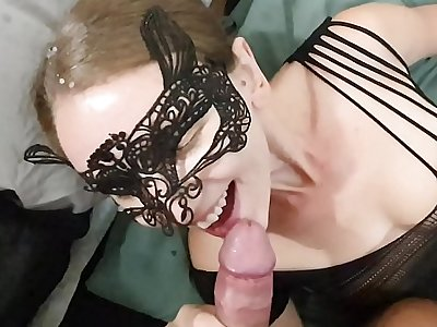 Sexy Hotwife Sucking Dick Added to Possessions a Hefty Facial