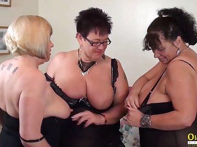 OldNannY Auntie Trisha Threesome Lesbian Party Malign
