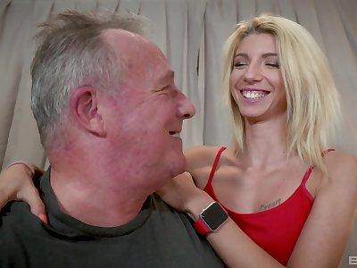 Caring kirmess Missy Luv lends the brush council with regard to an older man's respect