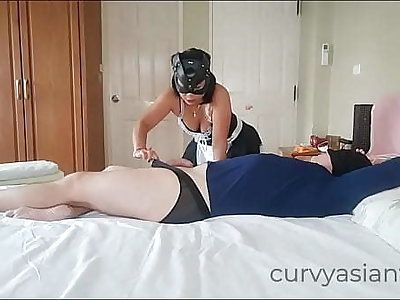Asian maid couldn't resist cock, Part 1