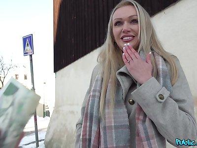 Busty Amber Jayne craving for a stranger's penis deep inside her