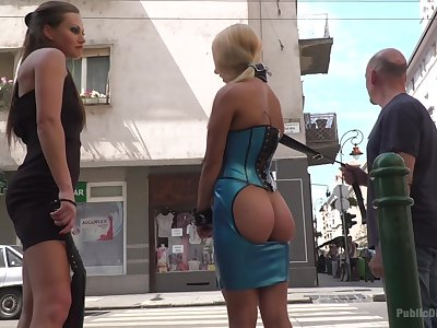 Steve Holmes and her kinky friends adore the humiliation in the public