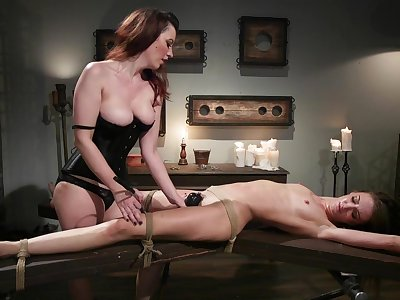 Cherry Frayed and Zoe Sparx use a strapon and a dildo be fitting of a poof fuck