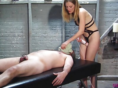 Blonde wife wants to dominate say no to man with an increment of play with his dick
