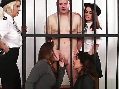 British cfnm milfs sucking prisoners cock