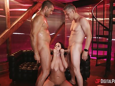 Hardcore MMF threesome on every side double vividness for Angela White