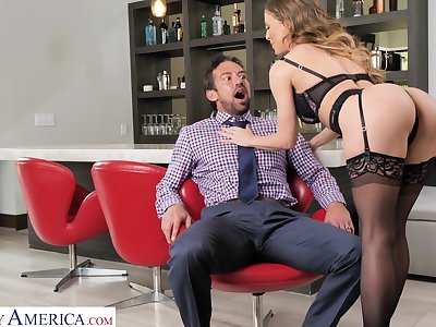 Reconstruction sexual milf Cherie Deville bangs handsome birthday boy Johnny Castle